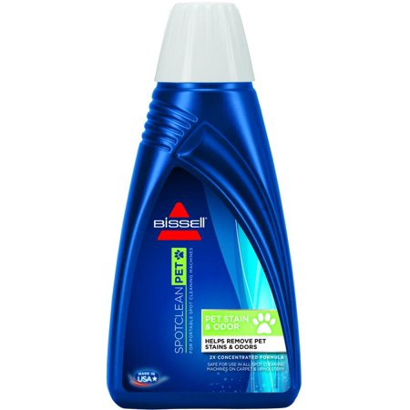 Bissell 74R7 2X Concentrated Pet Stain and Odor Remover, 32 oz, Bottle, Pale Yellow/Clear, Liquid, C
