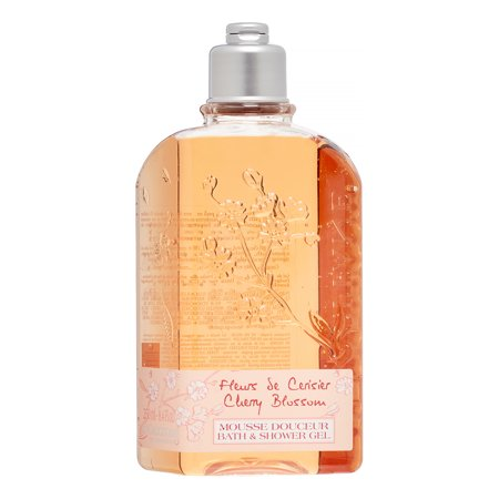 ($20 Value) L'Occitane Cherry Blossom Body Wash, 8.4 Oz Body Wash Cherry Blossom