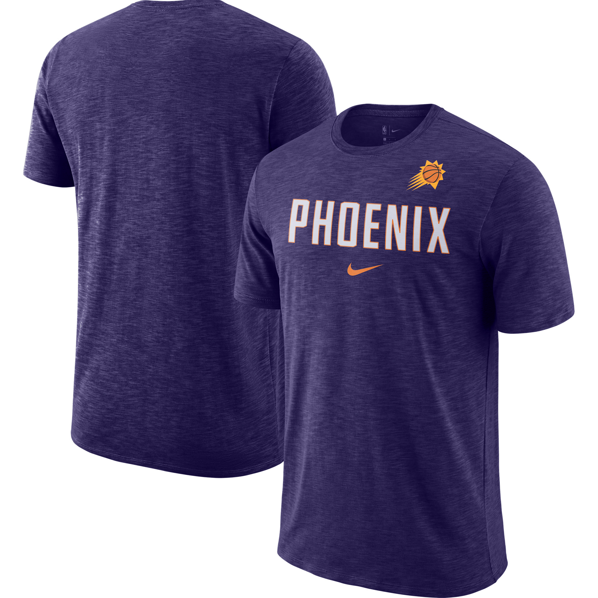Phoenix Suns Nike Essential Facility Slub Performance T-Shirt - Heathered Purple