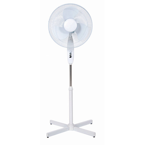 "Cool Works SP15-16A 16"" 3-Speed White Oscillating Pedestal Fan"