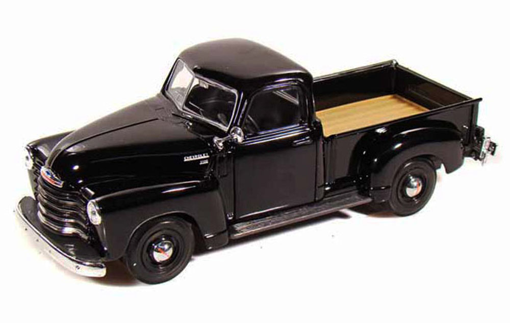 1950 Chevy 3100 Pickup Truck, Black Maisto 31952 1 24 Scale Diecast Model Toy Car by Maisto