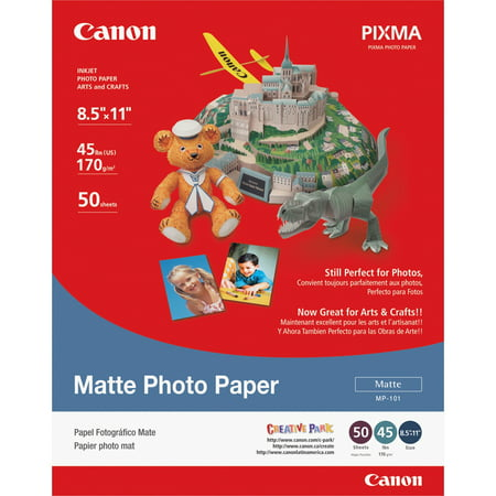 Matte Coated Paper Roll (Canon Photo Paper Plus, Matte, 8-1/2 x 11, 50 Sheets/Pack )