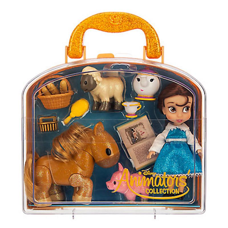 Disney Animator's Collection Belle Mini Doll Play Set New with Case