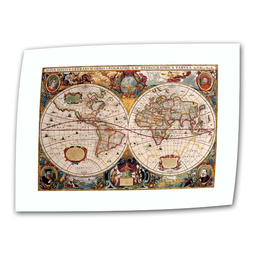 ArtWall Antique ''Hydrographica Map Antique Map'' Graphic Art on Canvas