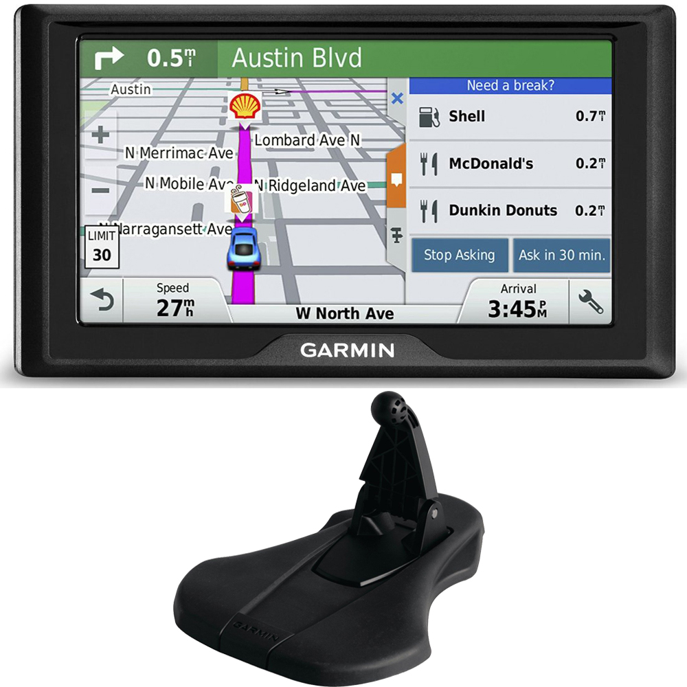 Garmin Drive 60LM GPS Navigator (US and Canada) 010-01533-07 Dashboard Mount Bundle includes GPS and Friction Dashboard Mount