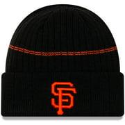 San Francisco Giants New Era Primary Logo On-Field Sport Cuffed Knit Hat - Black - OSFA