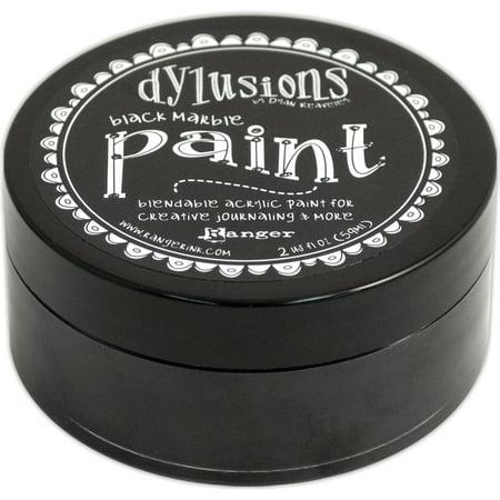 Marble Acrylic Award (Dylusions Blendable Acrylic Paint 2oz Black)