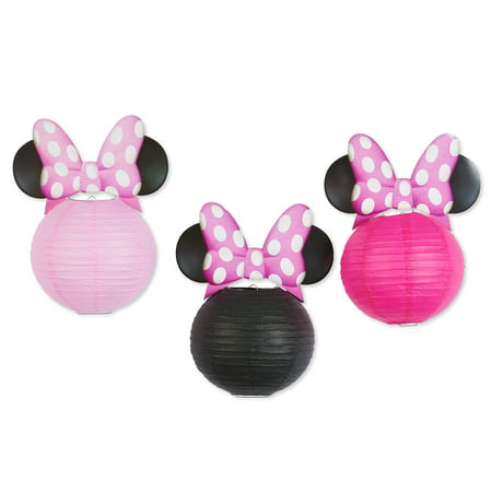 Minnie Mouse Paper Lantern Party Decorations 3ct Walmart Com