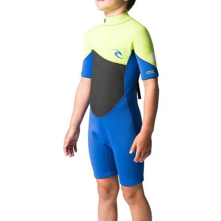 1.5mm Kid's & Junior's Rip Curl OMEGA S/S Springsuit Rip Curl Short Sleeve Wetsuit