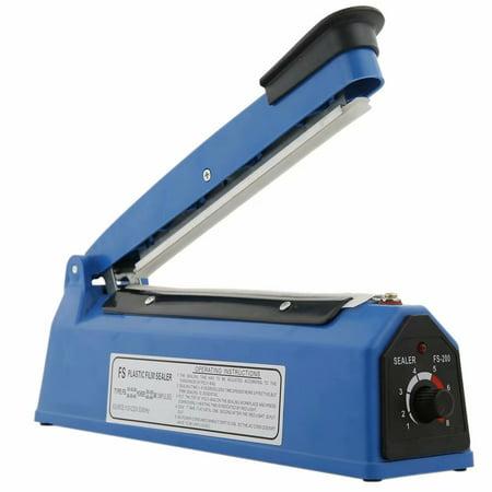 "12"" Impulse Manual Hand Sealer Heat Sealing Machine Poly Tubing Plastic Bag Blue"