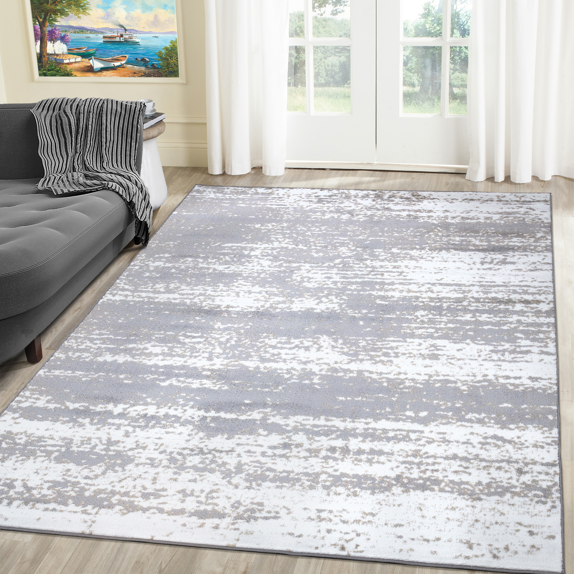 A2z Palma 1787 Contemporary Abstract Office Kitchen Large Area Rug Carpet Tapis Walmart Canada