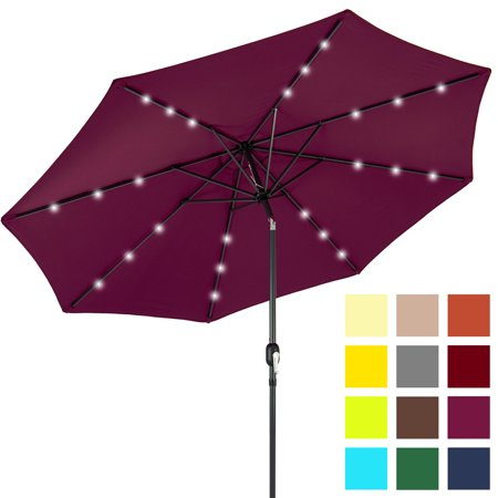 Best Choice Products 10ft Solar Powered LED Lighted Patio Umbrella on