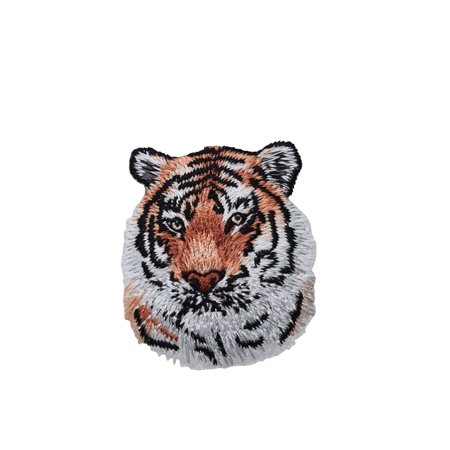Embroidered Tiger (Bengal Tiger Head/Face - Iron on Applique/Embroidered)
