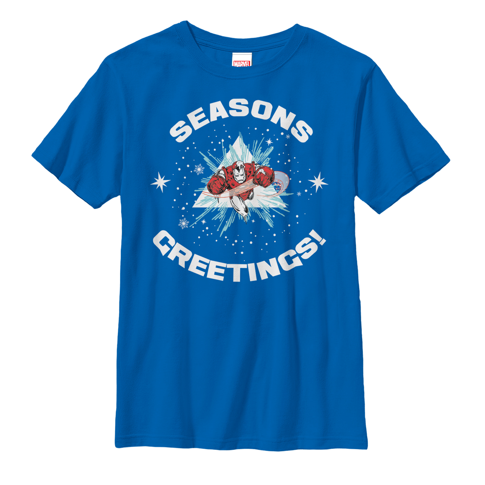 Marvel Boys' Christmas Iron Man Season's Greetings T-Shirt