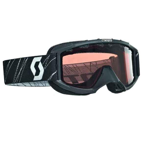 Scott USA 89 Si Youth Snowcross Goggles Black/Rose Lens