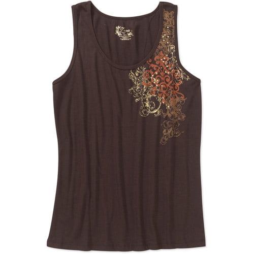 Women's Plus-Size Embellished Rib Tank Top