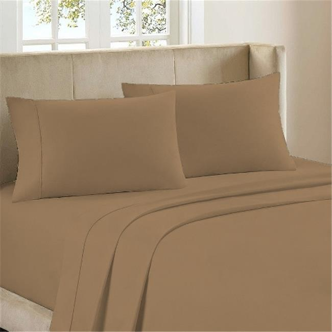 BedClothes Luxury 4 Piece Bamboo Comfort Bedding Sheet Set   Caramel   Queen