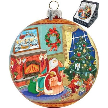 G Debrekht Holiday Limited Edition Christmas Eve Glass Ornament