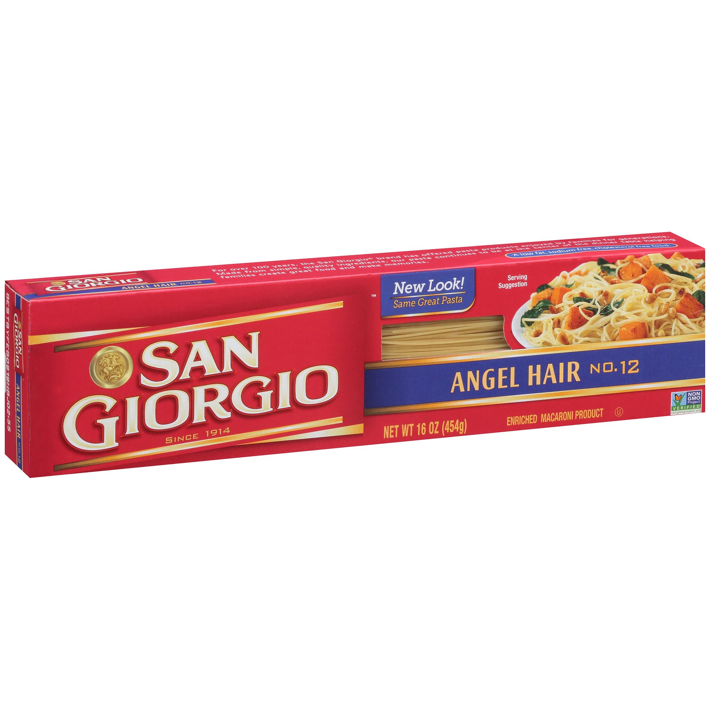 San Giorgio No 12 Angel Hair Pasta 16 Ounce Box Walmart Com