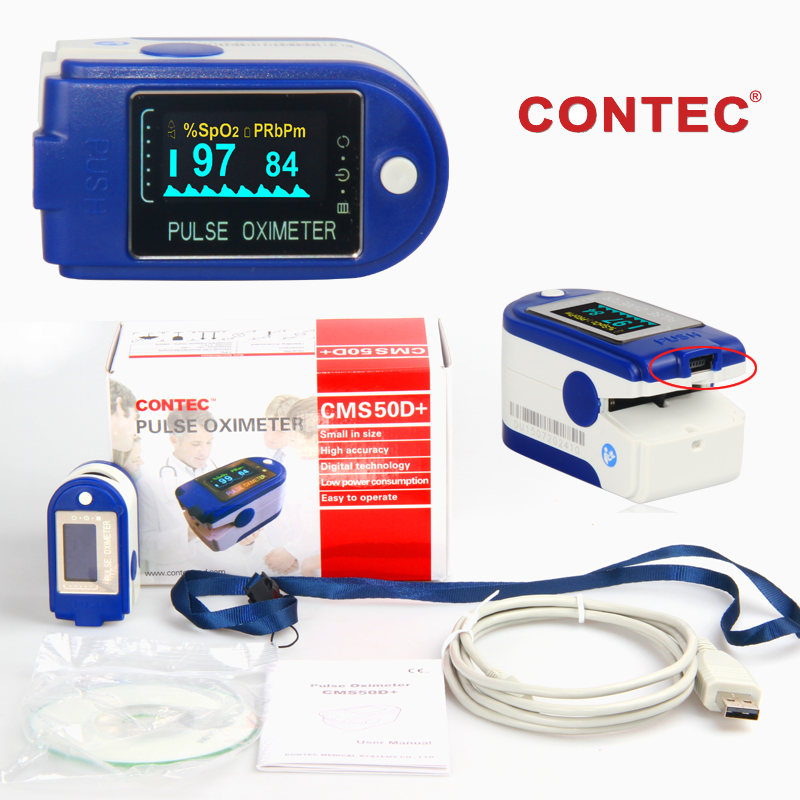 24 hours Recorder Pulse Oximeter Blood Oxygen Monitor with PC software