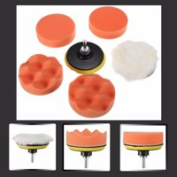 """4"""" Polishing Sponge Waxing Buffing Pad Compound Auto Car Polisher Drill Kit with M10 Drill Adapter"""