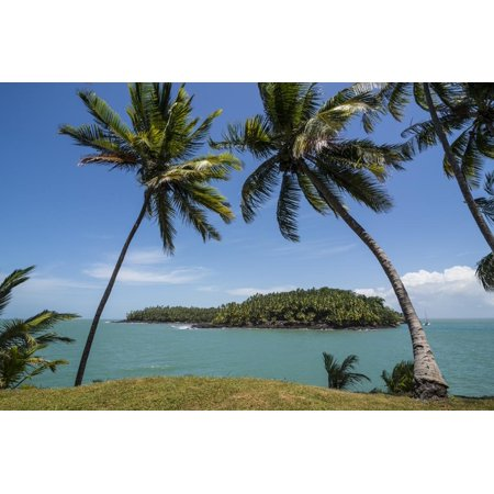 View of Saint Joseph from the Royal Island, Iles Du Salut, French Guiana, Department of France Print Wall Art By Michael (Best Time To Visit French Guiana)