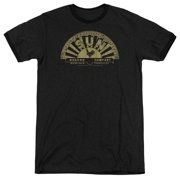 Sun Records Media Company Record Label Tattered Logo Adult Ringer T-Shirt Tee