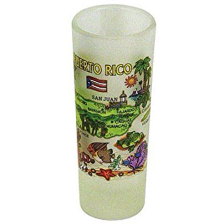 Puerto Rico Map Frosted Shooter Shot Glass](Shooter Glasses)