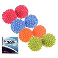 Set of 8 Black Duck Brand Reusable Dryer Balls (Orange, Pink, Blue, Green) Replace Laundry Drying Fabric Softener and Saves You Money (Set of 8, Blue-Pink-Orange-Green)