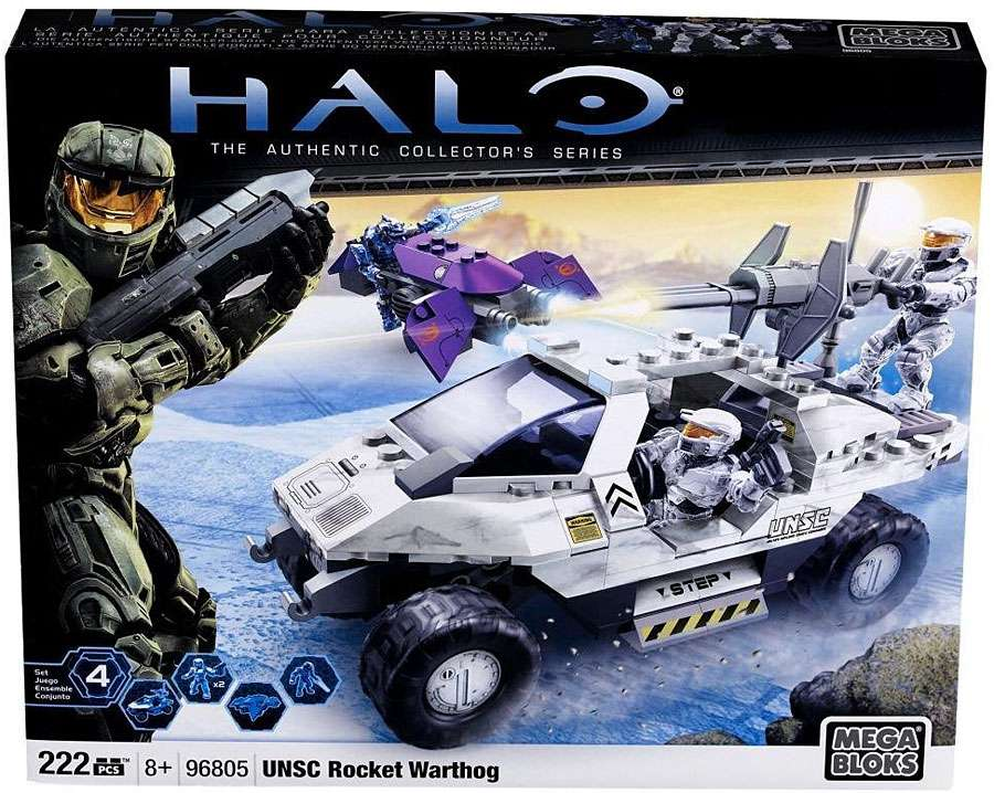 Halo UNSC Rocket Warthog Set Mega Bloks 96805 by