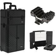 Sunrise I3466DMAB Black Dmnd Trolley Makeup Case - I3466
