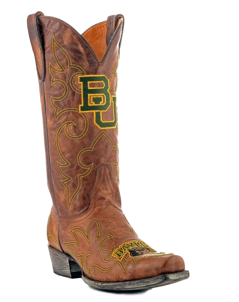 Gameday Boots Mens Leather Baylor Cowboy Boots by GameDay Boots