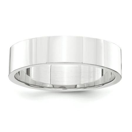 Platinum 5mm Flat Wedding Band Ring Multiple Sizes