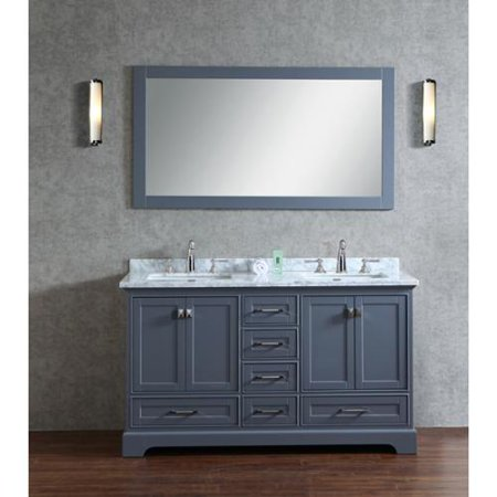Stufurhome grey 60 inch double sink bathroom vanity set - Walmart bathroom vanities with sink ...