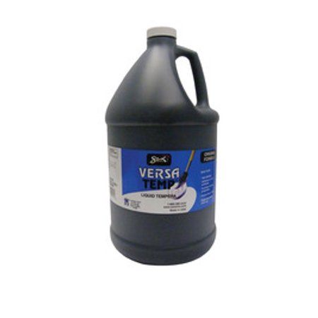 Sax Versatemp Heavy-Bodied Tempera Paint, Black, Gallon (Black Light Reactive Paint)