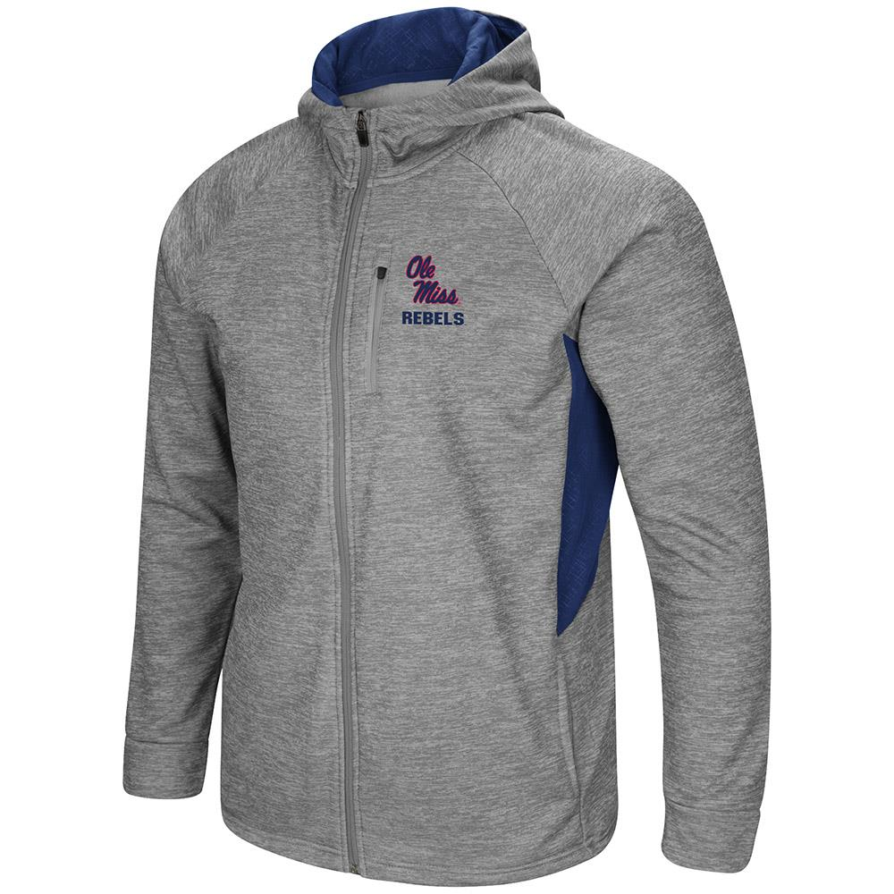 Mens Ole Miss Rebels Full Zip Jacket S by Colosseum