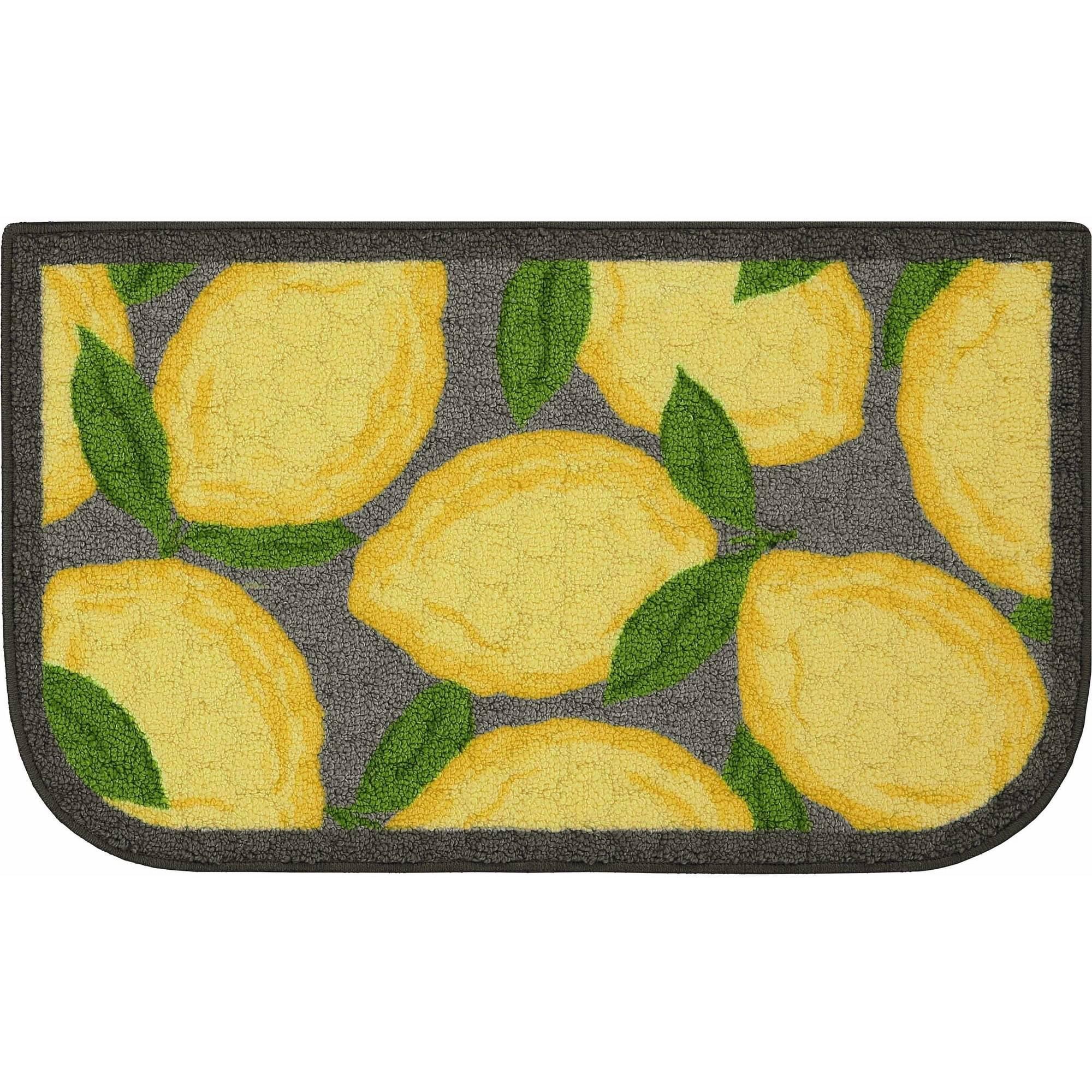 better homes and gardens lemon kitchen rug walmart
