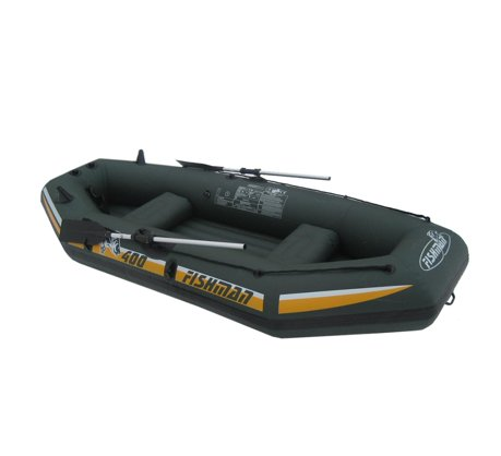 9 5 39 green and yellow three person inflatable fishing boat set for Walmart fishing boats