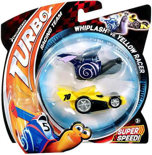 Mattel Toys Turbo Whiplash vs Yellow Racer Vehicle 2 - Pack