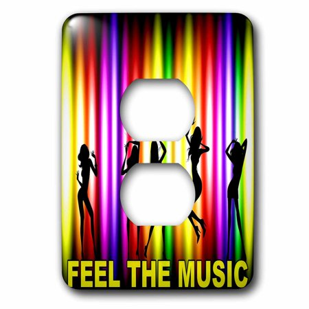 3dRose Dance party theme with rainbow light abstract art - 2 Plug Outlet Cover](Dance Party Themes)