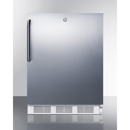 AL650LBISSTB 24 ADA Compliant Top Freezer Refrigerator with 5.1 cu. ft. Capacity  Dual Evaporator  Cycle Defrost  Zero Degree Freezer and Towel Bar Handle in Stainless Steel