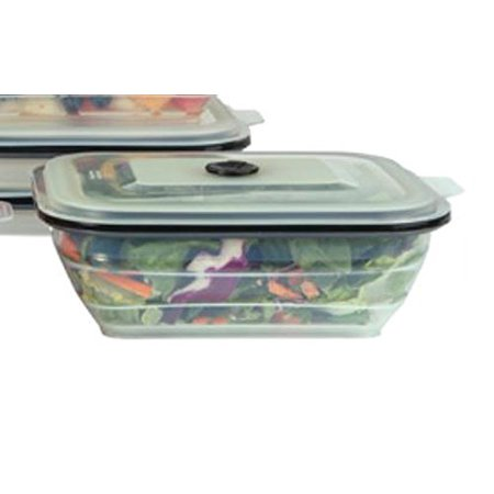 Collapse-it Food Storage & Cooking Large Rectangular 6-Cup Container Cooking Food Storage