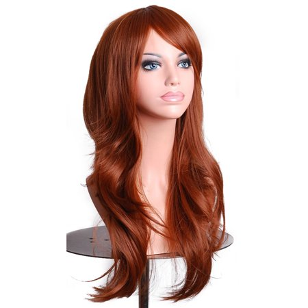 Kapmore 27.5'' Synthetic Wig Heat Resistant Long Curly Wig Cosplay Wig Full Wig Hair Wig with Wig Cap for Women Girls for $<!---->