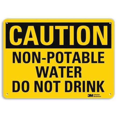 LYLE U4-1560-RA_10X7 Safety Sign,Non-Potable Water,7 in. H G1812870