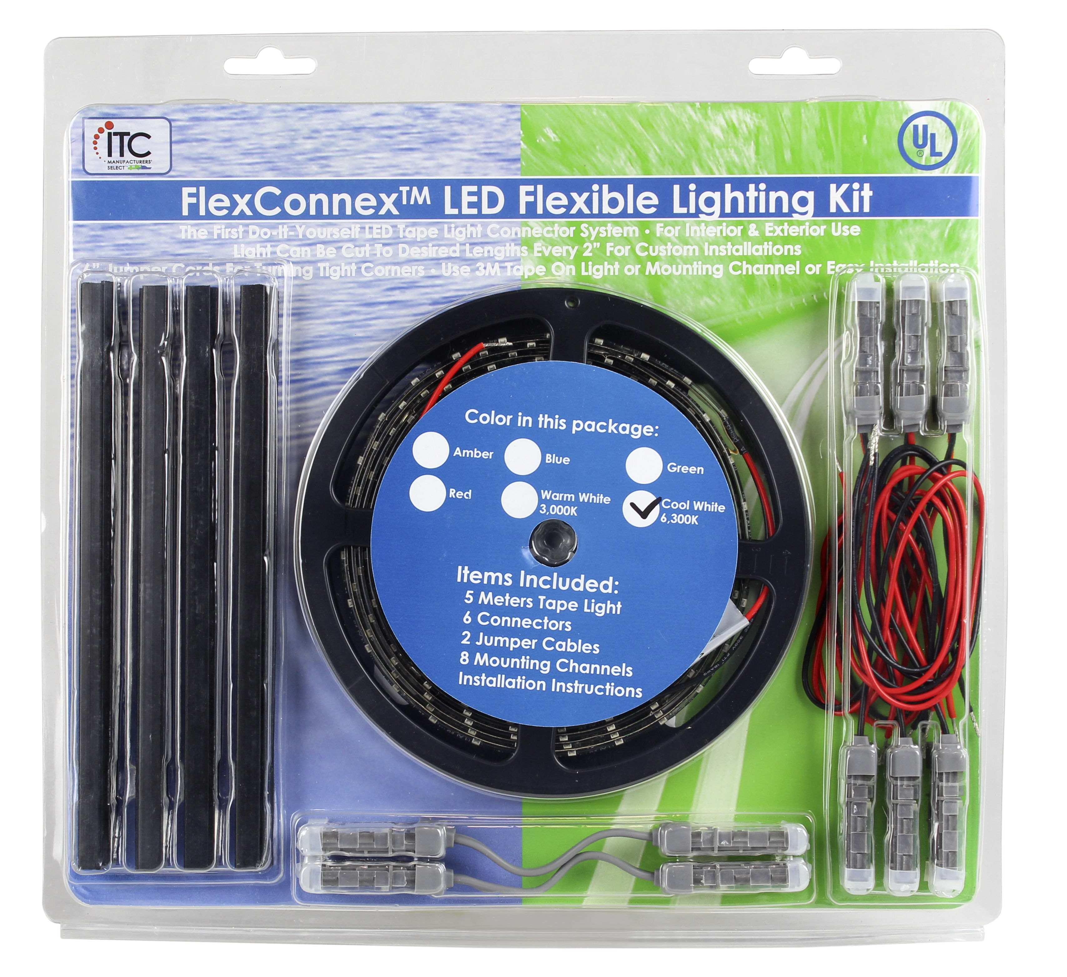 Itc Incorp Tpe12bl 50012 D Rope Light Led Flexconnex Tm 5 Meter Electrical Wiring Channels Length 13 Volt Blue With 6 Connectors 8 Mounting And Installation Instructions