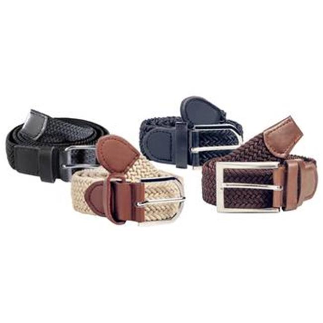 CCV 0034002 Stretch Belts for Ladies & Men, Brown