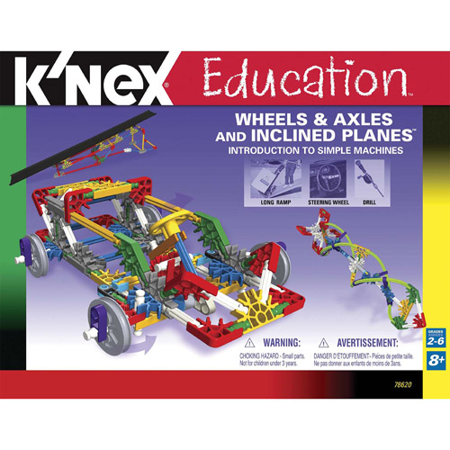 K'NEX Education: Intro to Simple Machines - Wheels & Axles and Inclined Planes Building Set