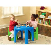 Grow N Up Crayola Wooden Kids 3 Piece Table And Chair Set
