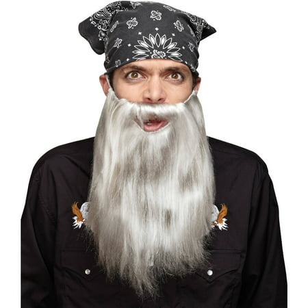 Fake Grey Beard (Grey Beard Basic Adult Halloween)