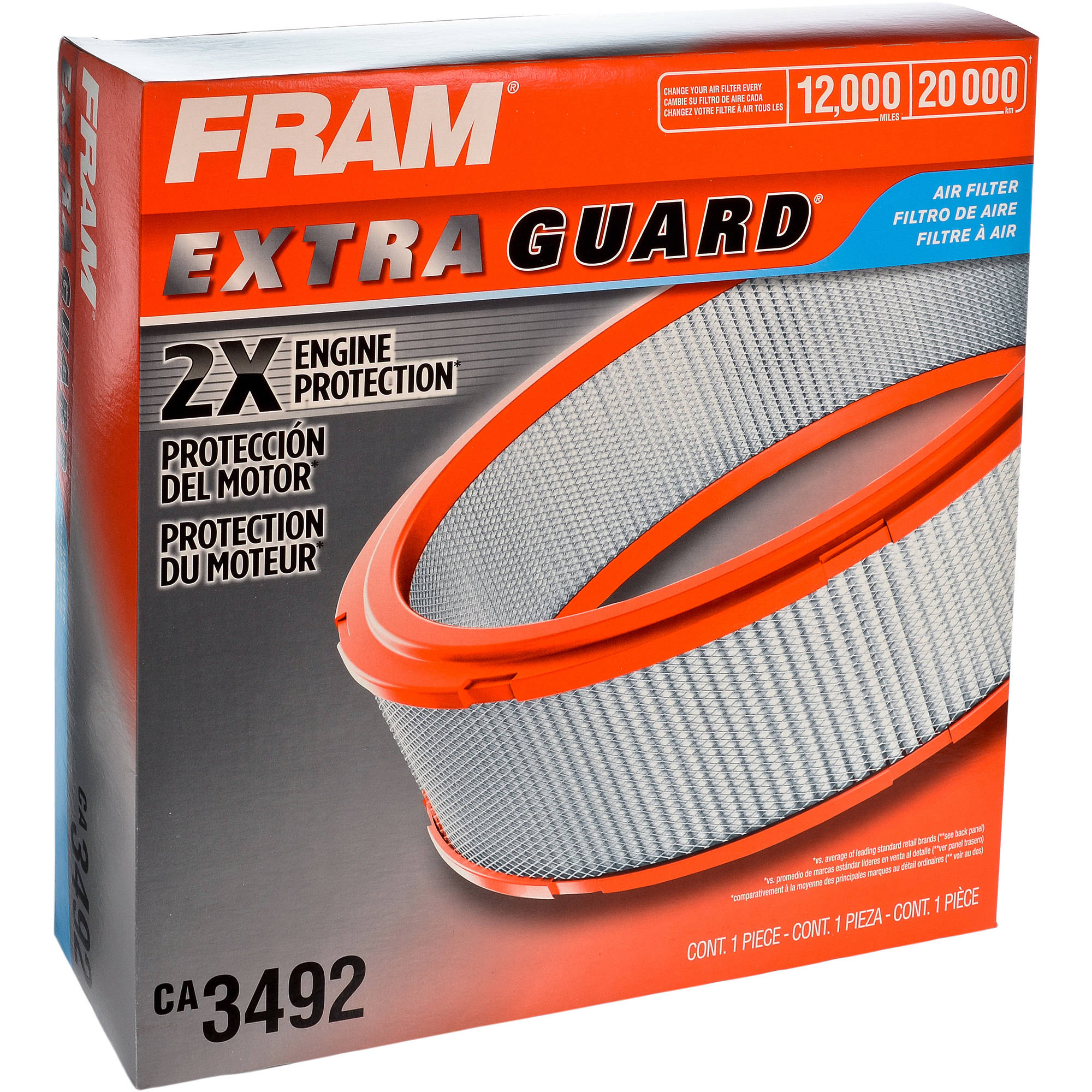 FRAM Extra Guard Air Filter, CA3492